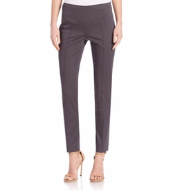 Melissa Slim Cotton Techno Pants by Akris in Suits