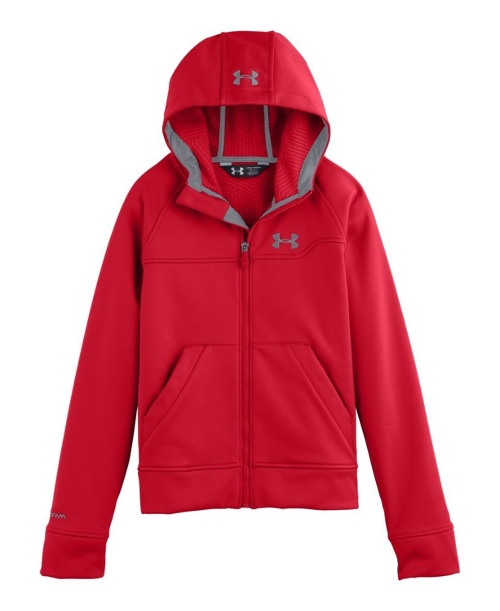Boys' Storm Coldgear Softershell Hooded Jacket by Under Armour in Max