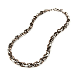 Alchemy Bike Chain Abs Necklace by Pono in The Good Wife