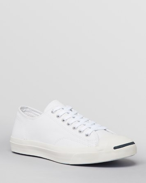 Jack Purcell Leather Sneakers by Converse in Dope