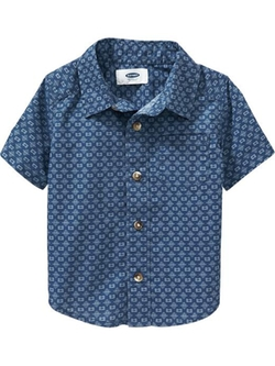 Indigo Patterned Shirts by Old Navy in Bridge of Spies