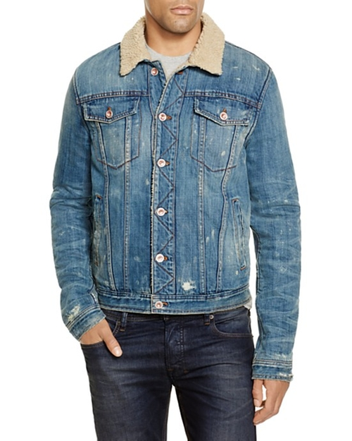 Shearling Denim Jacket by Joe's Jeans in Empire - Season 2 Episode 16