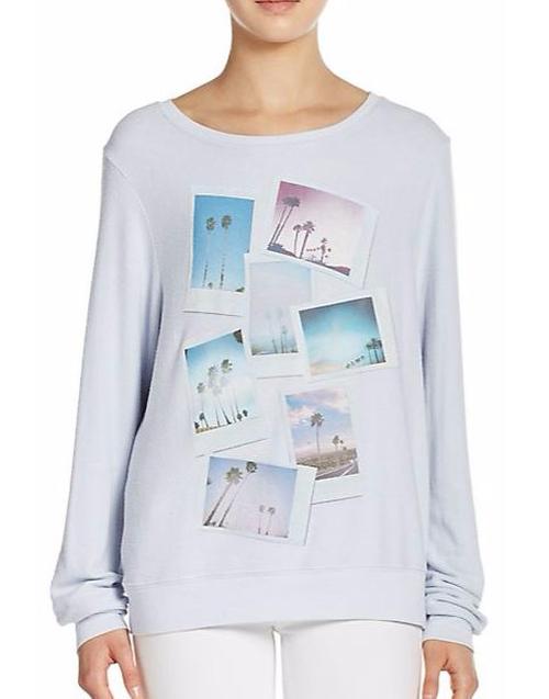 Palm Polaroid Sweatshirt by Wildfox in Pretty Little Liars - Season 6 Episode 20