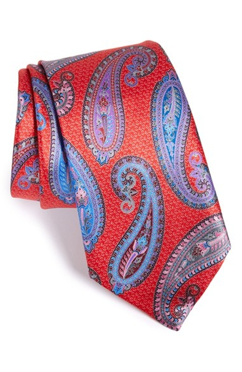 'Quindici' Paisley Print Silk Tie by Ermenegildo Zegna in Scandal - Season 5 Episode 9