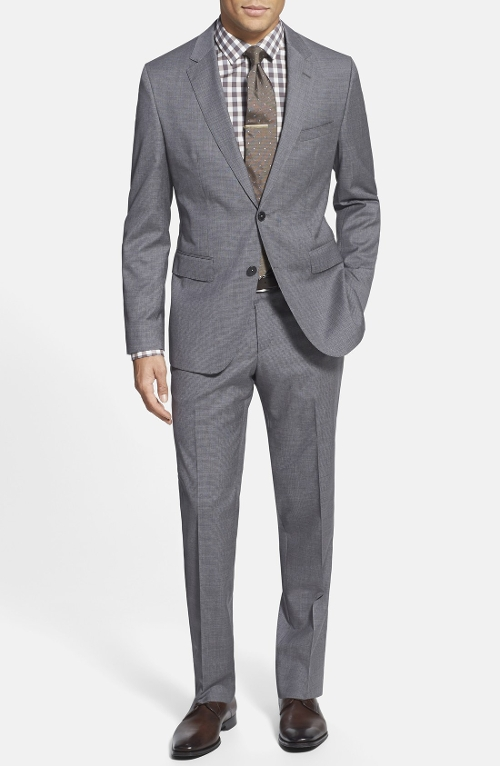 Classic Fit Wool & Silk Suit by Boss Hugo Boss in Entourage