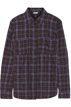 Hayes Plaid Cotton Shirt by Splendid in Dope