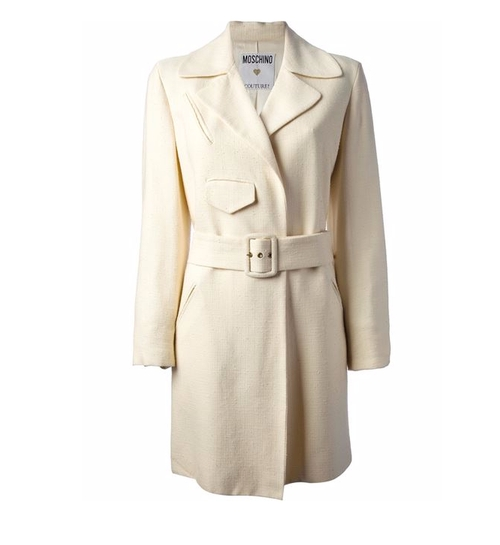 Belted Coat by Moschino Vintage in Guilt