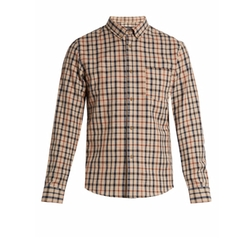Checked Cotton And Linen-Blend Shirt by A.P.C. in Silicon Valley