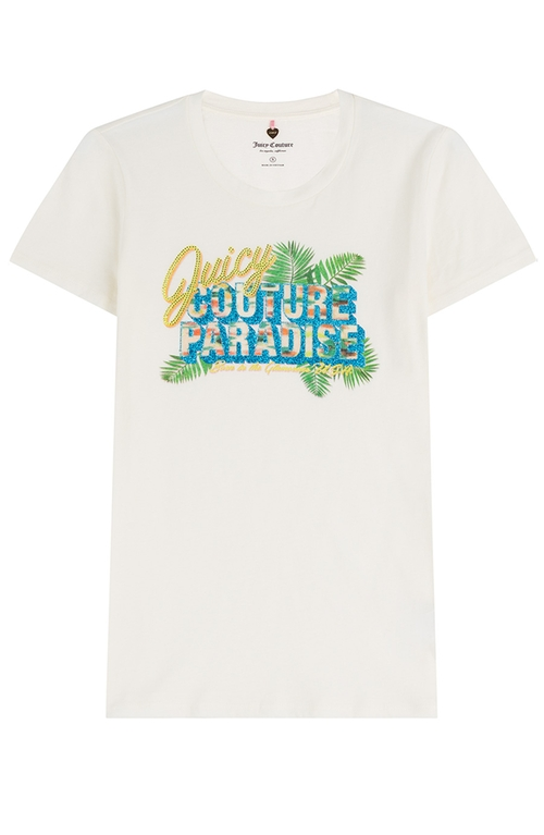 Paradise Printed Cotton T-Shirt by Juicy Couture in Inherent Vice