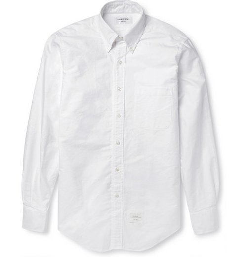 Button-Down Collar Cotton Oxford Shirt by Thom Browne in Begin Again