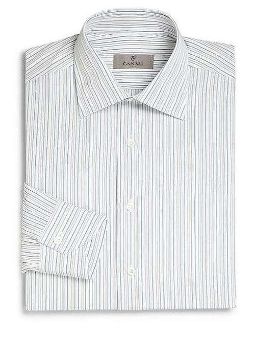 Regular-Fit Striped Dress Shirt by Canali in The Blacklist - Season 3 Episode 6