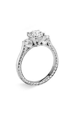Silhouette Platinum 3-Stone Ring by Jack Kelége in Addicted