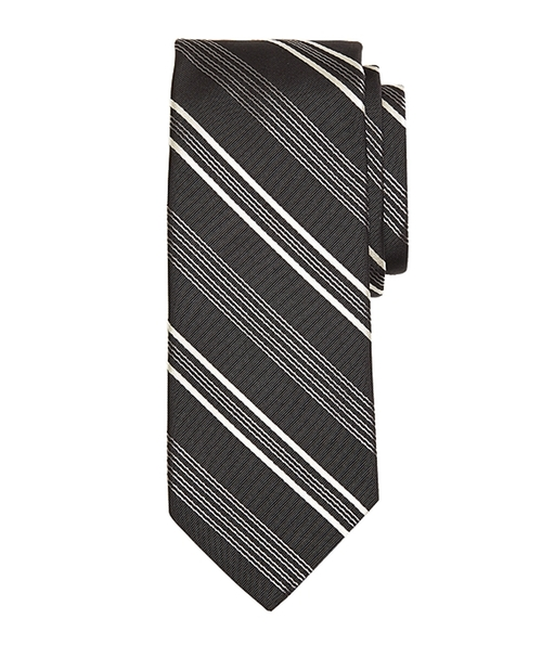 Quad Stripe Tie by Brooks Brothers in The Departed