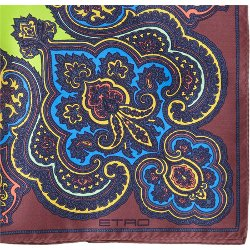 Motif-Print Silk Pocket Square by Etro in The Man from U.N.C.L.E.