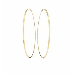 Large Oval Magic Hoop Earrings by Lana in Rosewood
