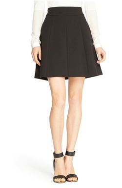 Pleated A-Line Skirt by Halston Heritage in Elementary