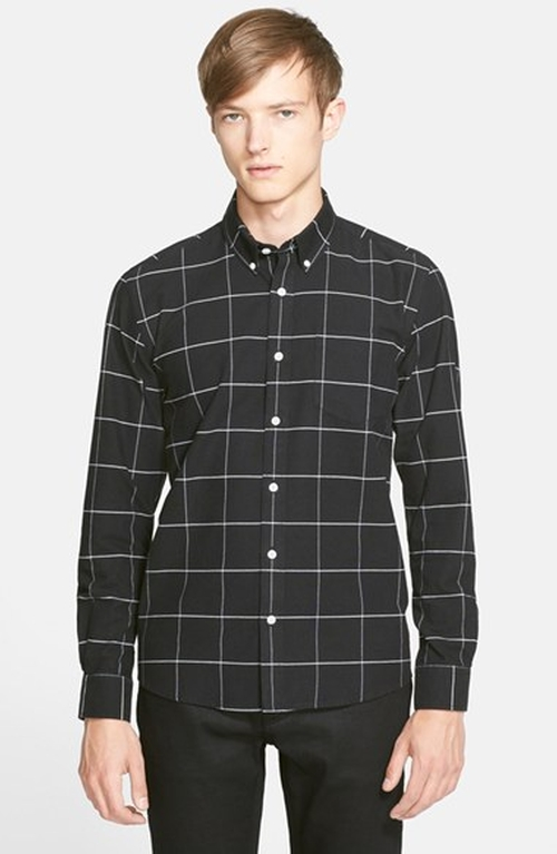 Crosby Plaid Oxford Shirt by Saturdays NYC in Quantico - Season 1 Episode 9