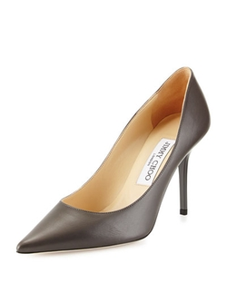 Agnes Leather Point-Toe Pumps by Jimmy Choo in Suits