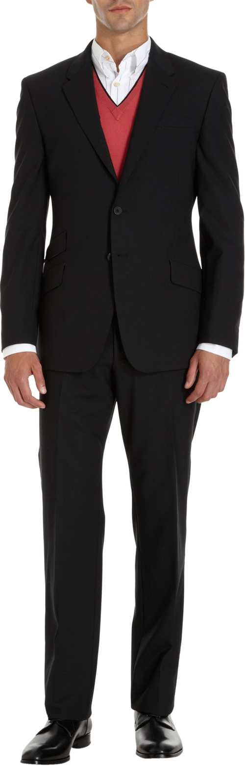 Byard Two Piece Suit by Paul Smith in Black Mass