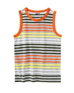 Stripe Tank Top by Crazy 8 in Black-ish