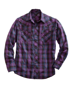 Plaid Snap Western Shirt by Tin Haul in Nashville