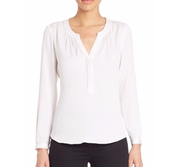 Tessa Stretch Silk Blouse by Milly in Suits