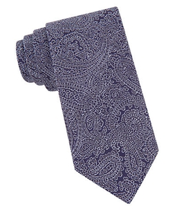 Silk Woven Paisley Embroidered Tie by John Varvatos in Suits