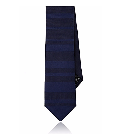 Mixed-Stripe Jacquard Necktie by Title Of Work in The Infiltrator