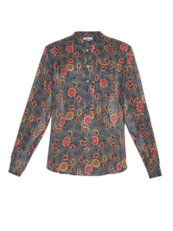 Silena Slavic Floral-Print Blouse by Isabel Marant Étoile in The Blacklist