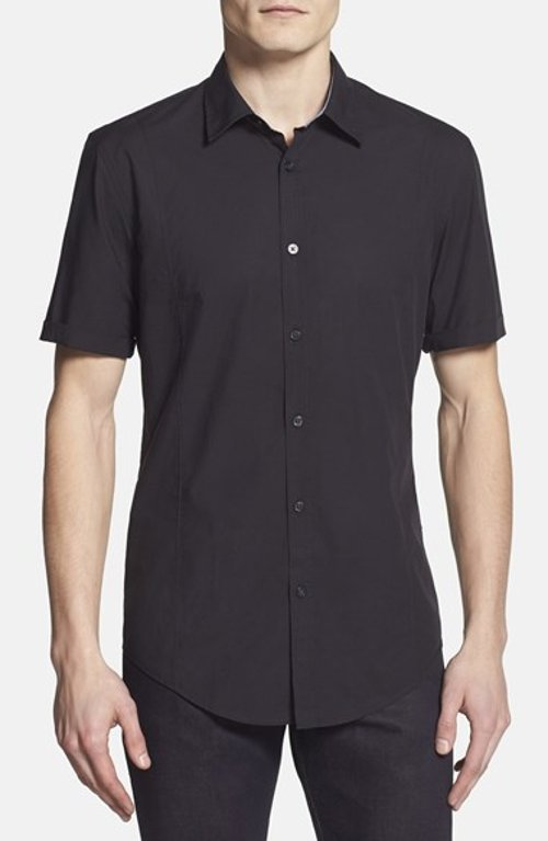 Marco Slim Fit Short Sleeve Sport Shirt by Boss Hugo Boss in The Best of Me