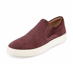 Ace Perforated Suede Skate Sneakers by Vince in New Girl