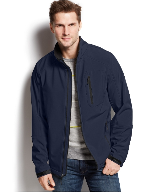 Full-Zip Softshell Jacket by Calvin Klein in Love & Mercy