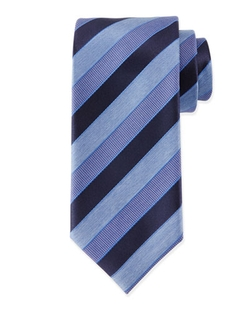 Textured Stripe Silk Tie by Massimo Bizzocchi in Barbershop: The Next Cut