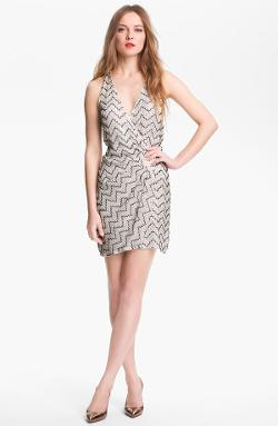 'Duet' Beaded Silk Faux Wrap Dress by Parker in The Other Woman