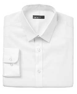 Slim-Fit Solid Dress Shirt by Bar III in Black or White