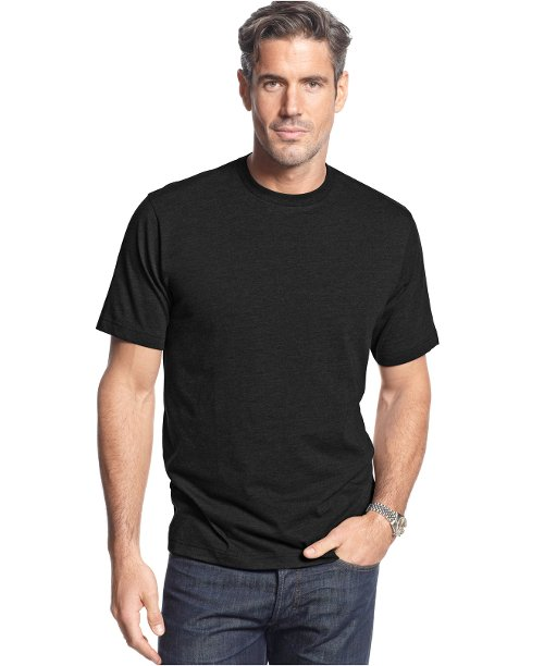 Short-Sleeve Crew Neck Solid T-Shirt by John Ashford in While We're Young