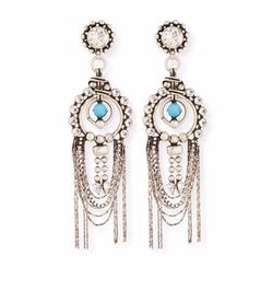 Monterosso Chain-Drop Statement Earrings by Dannijo in Empire