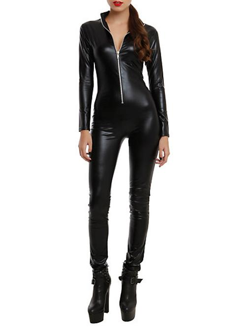 Zip-Up Catsuit by Black Lamé in A Good Day to Die Hard