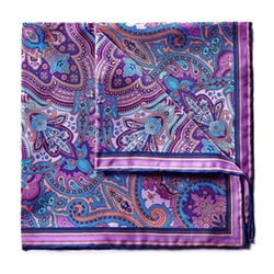 Silk Pocket Square by Bruno Piatelli in Suits