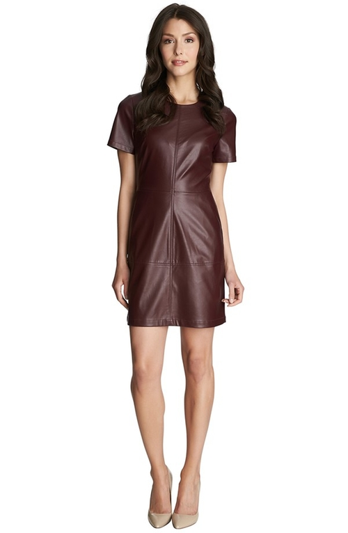 Faux Leather & Ponte Shift Dress by 1.State in The Good Wife - Season 7 Episode 5