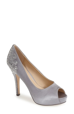 Sanco Peep Toe Pumps by Menbur in Bridesmaids