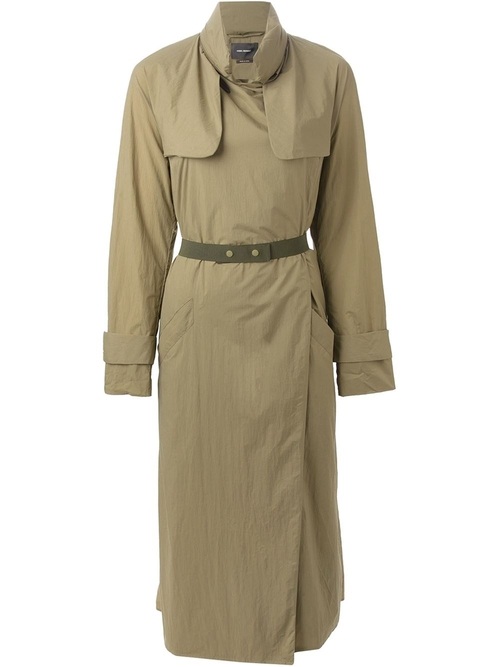 Belted Trench Coat by Isabel Marant in Keeping Up With The Kardashians - Season 11 Episode 5