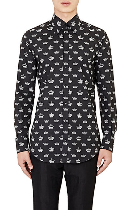Crown Poplin Shirt by Dolce & Gabbana in Steve Jobs