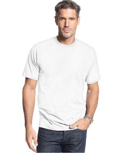 Short-Sleeve Crew Neck Solid T-Shirt by John Ashford in Get Hard