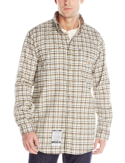 Flame Resistant Classic Plaid Long Sleeve Woven Shirt by Carhartt in The Choice
