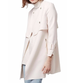 'Putty' Raw Edge Belted Coat by Topshop in The Bachelorette