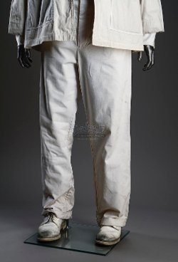 Orderly Uniform White Trousers (Leonardo DiCaprio) by Sandy Powell (Costume Designer) in Shutter Island