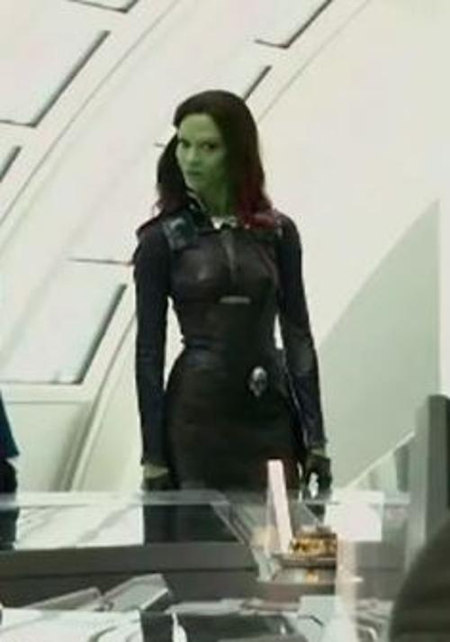 Custom Made Costume (Gamora) by Alexandra Byrne (Costume Designer) in Guardians of the Galaxy Vol. 2