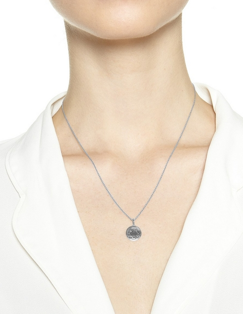 Silver Lia Pendant by Sarah Chloe in Pretty Little Liars - Season 6 Episode 10