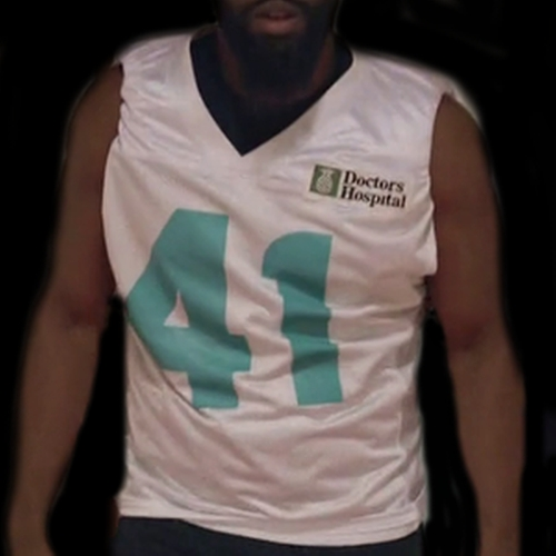 Men's Miami Dolphins Customized White Game Jersey by Nike in Ballers - Season 1 Episode 3